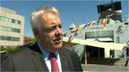 First Minister Carwyn Jones on HMS Dragon