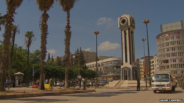 The new clock tower in Homs