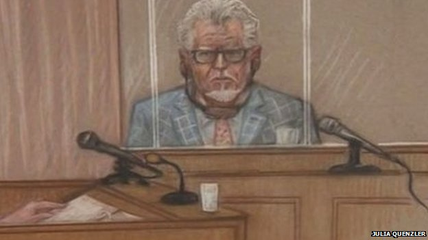 Rolf Harris court sketch