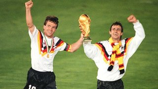 West Germany win the 1990 World Cup