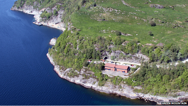 Aerial shot of Green Mountain data centre