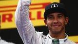 Lewis Hamilton with Nico Rosberg