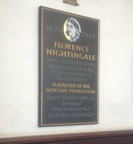 Plaque in Derby Cathedral