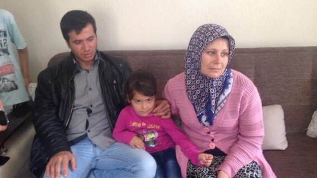 Tac Feratay with his family