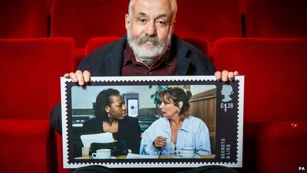 Mike Leigh with Secrets and Lies stamp