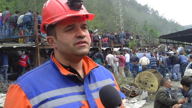 Rescue worker Ugur Acar
