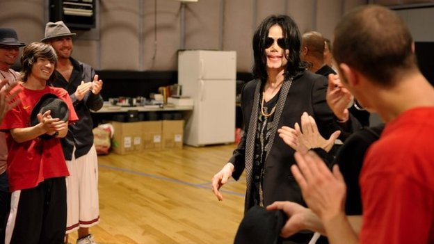Michael Jackson at dance auditions in 2009