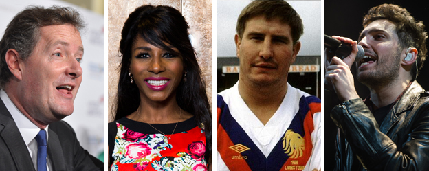 Piers Morgan, Sinitta, Lee Crooks and Josh Franceschi