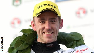 Fermanagh man Lee Johnston celebrated his first ever North West 200 win
