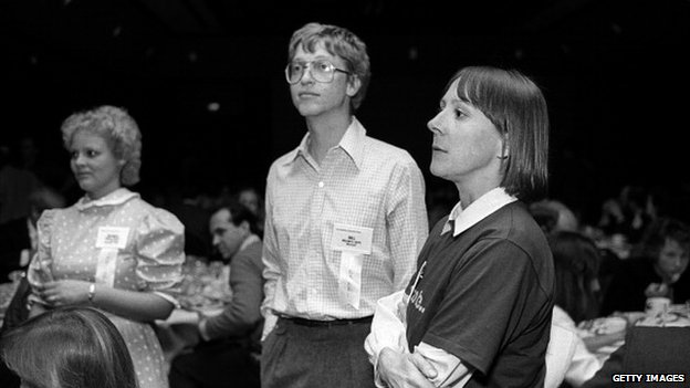 Dyson shown with Bill Gates in 1984