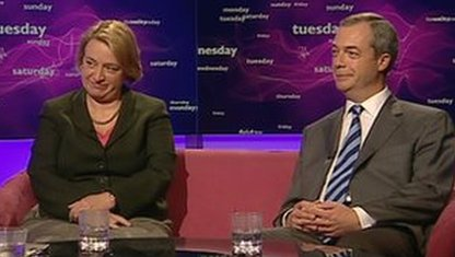 Natalie Bennett and Nigel Farage
