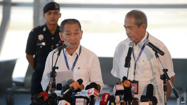 Malaysia Airlines chief executive Ahmad Jauhari Yahya and chairman