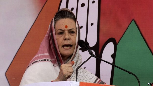 Mrs Gandhi's Congress party has conceded defeat