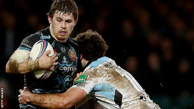 Luke Cowan-Dickie in Heineken Cup action against Glasgow