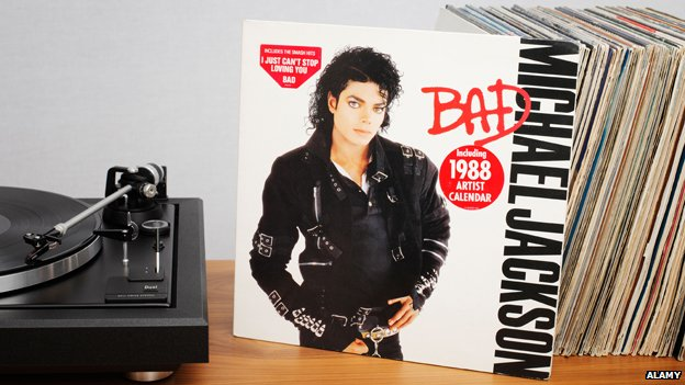 "Cover of Michael Jackson's ""Bad"" LP"