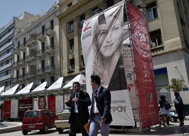 Syriza poster in Athens