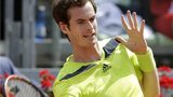 Andy Murray playing in the Italian Open