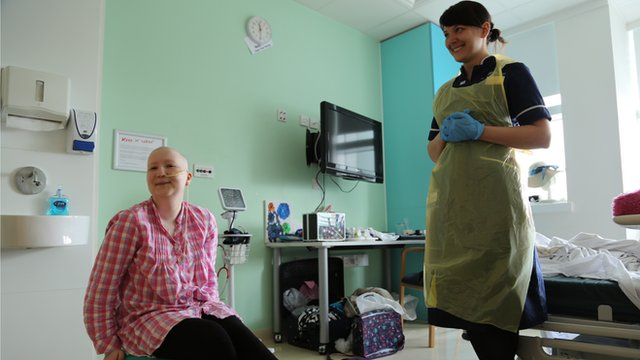 Nurse Louise Baxendale says her patients are very inspiring