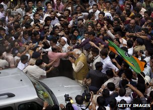 Modi in the crowd