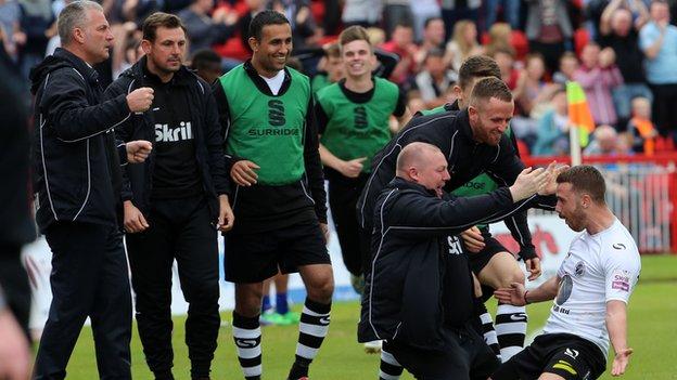 Gateshead celebrate beating Grimsby