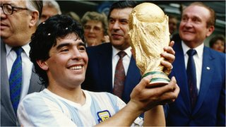 Diego Maradona inspired Argentina to their second World Cup