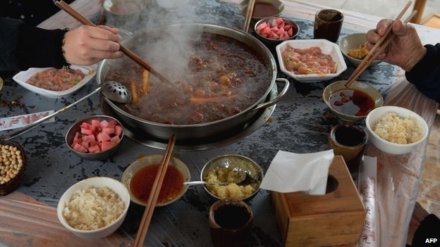 File photo: Food in Chongqing, China