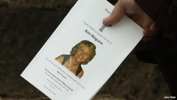 Order of service for Ann Maguire's funeral