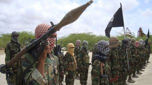 File photo of al-Shabab militants