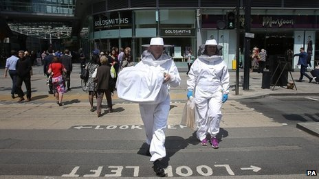 Beekeepers in Victoria Street, central London