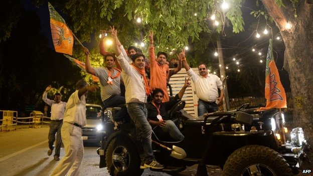 BJP supporters in Delhi - 16 May