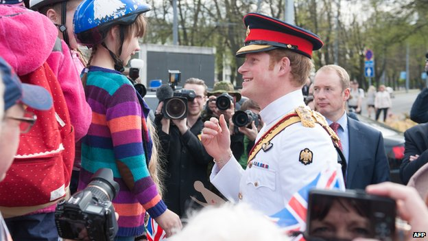 Prince Harry greets wellwishers