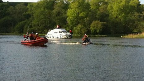 Two RNLI lifeboats and a police boat are carrying out searches on the water