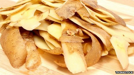 Potato peelings