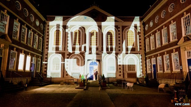 Projection at Light Night