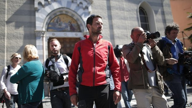 Jerome Kerviel in Ventimiglia (Italy) (17 May)
