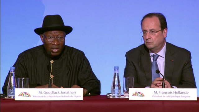 President Goodluck Jonathan and President Francois Hollande