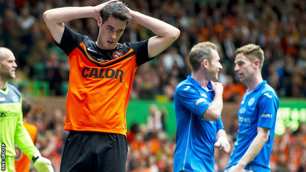 Dundee United lost 2-0 to St Johnstone at Celtic Park