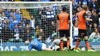 Steven MacLean scores for St Johnstone against Dundee United