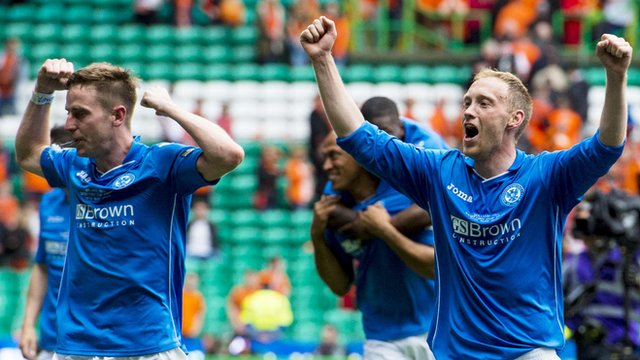 St Johnstone players Steven MacLean and Steven Anderson