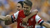 Arsenal's Aaron Ramsey celebrates