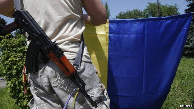 Pro-Ukrainian activist in the Donetsk region, 17 May