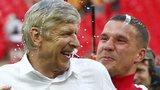 Arsene Wenger and Lukas Podolski