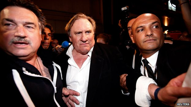 Gerard Depardieu in Cannes