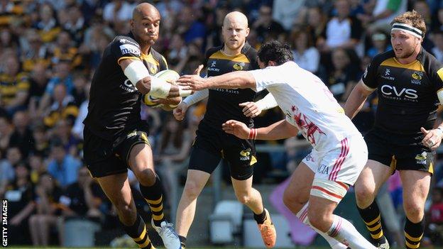 Tom Varndell of Wasps v Stade Francais