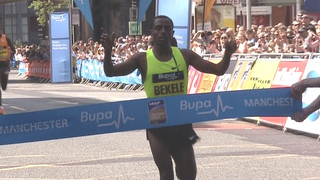Kenenisa Bekele wins the Great Manchester Run