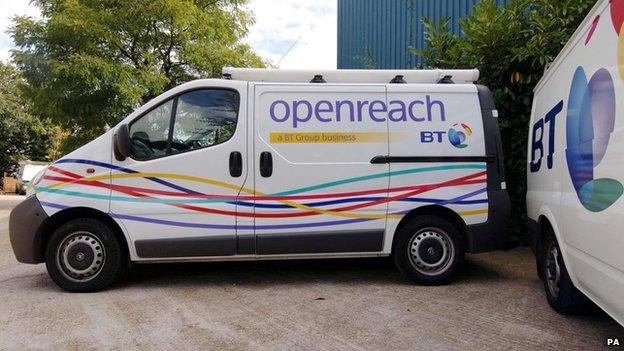 BT Openreach vans