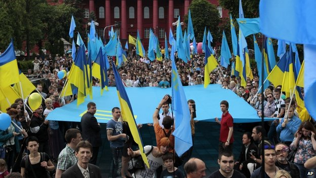 Rally in Kiev marking deportation of Tatars from Crimea (18 May)