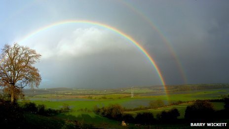Rainbow over Flemingston Moor, Vale of Glamorgan