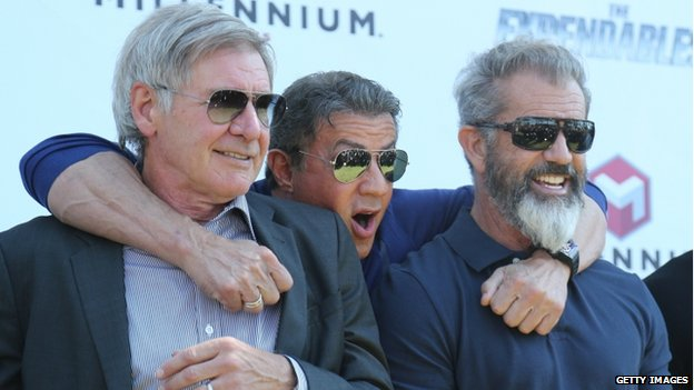 Harrison Ford, Sylvester Stallone and Mel Gibson
