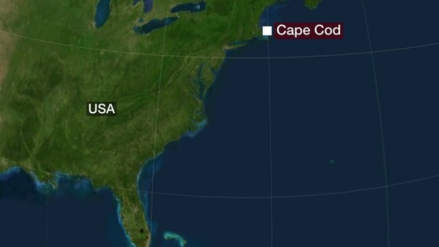map showing Cape Cod